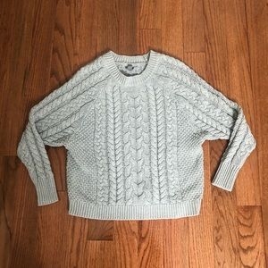 Aerie Gray Cable Knot Sweater Size Small